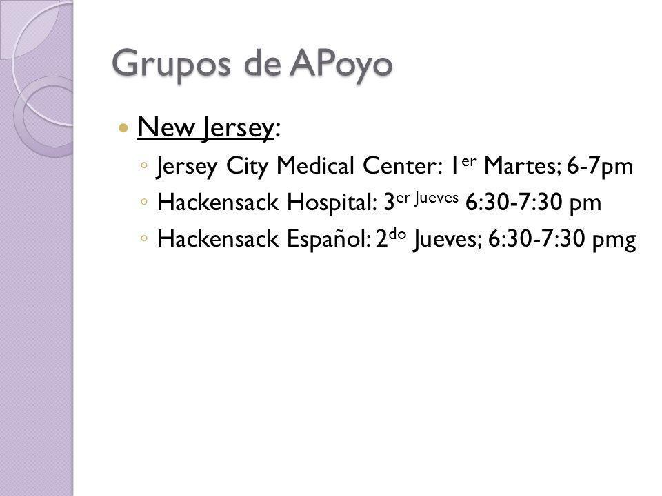 Grupos de APoyo New Jersey: