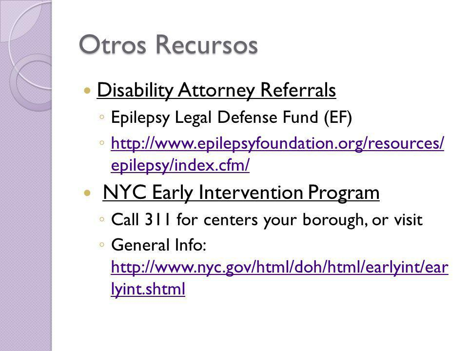 Otros Recursos Disability Attorney Referrals