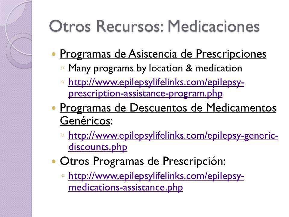 Otros Recursos: Medicaciones