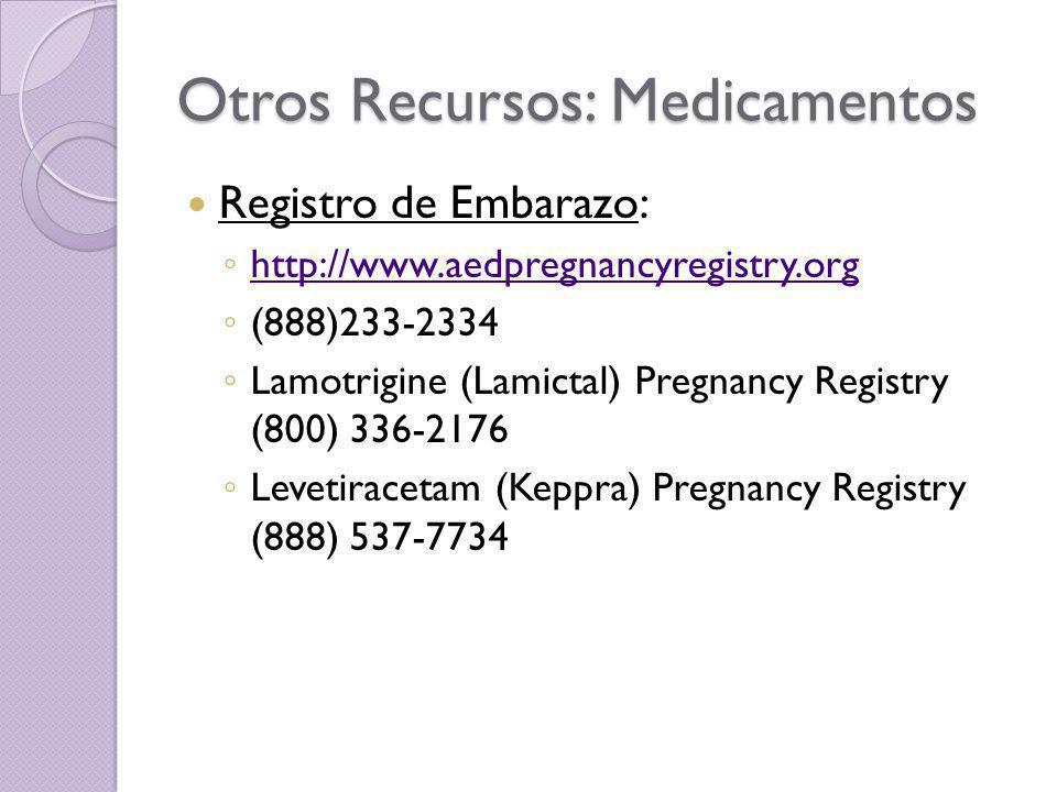 Otros Recursos: Medicamentos