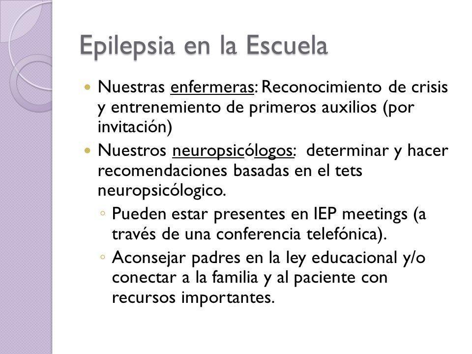 Epilepsia en la Escuela