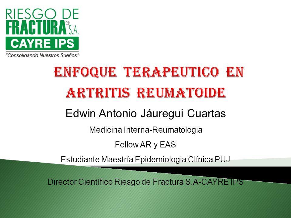 enfoque terapeutico en Artritis Reumatoide