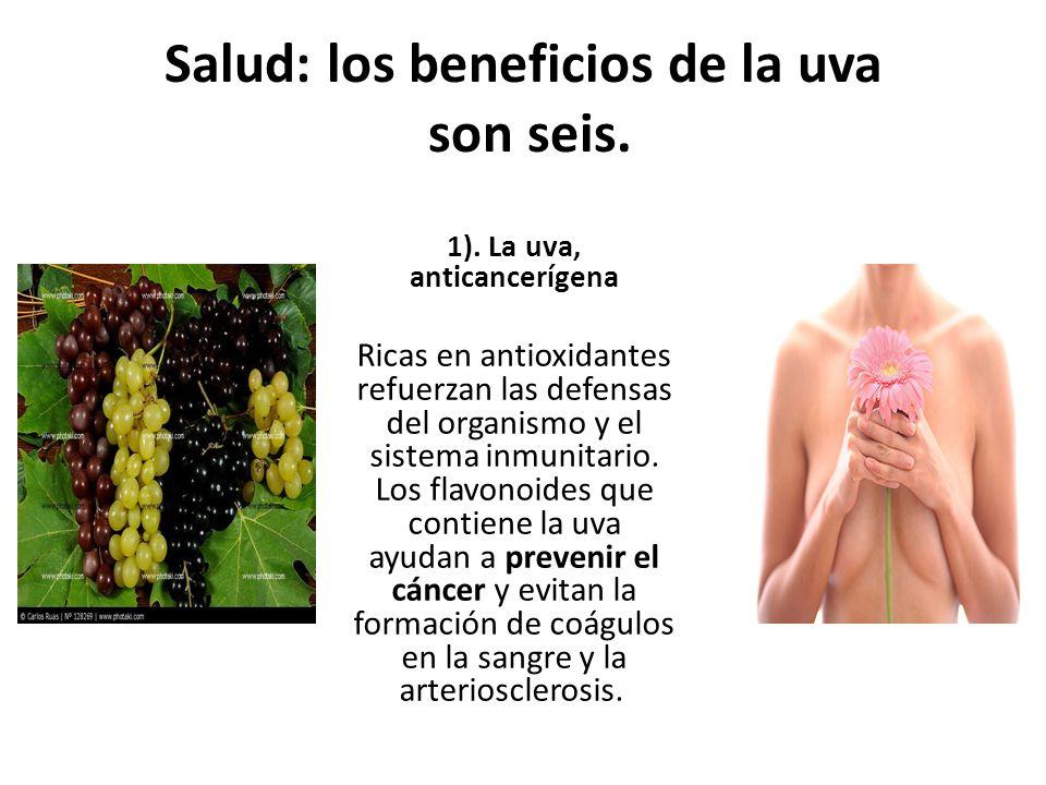 Salud: los beneficios de la uva son seis.