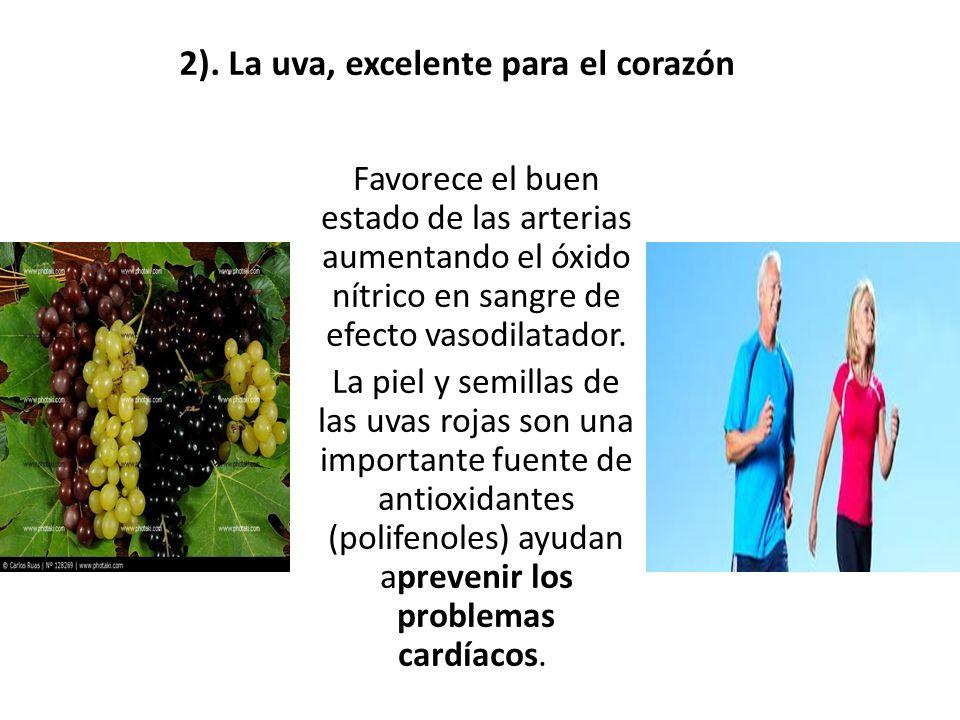 2). La uva, excelente para el corazón