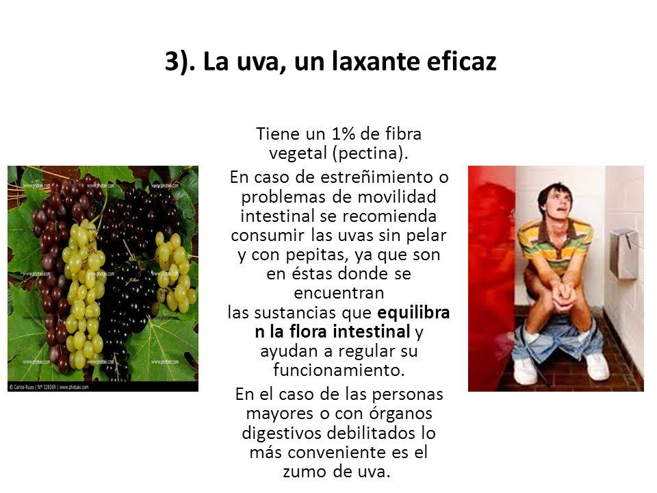 3). La uva, un laxante eficaz