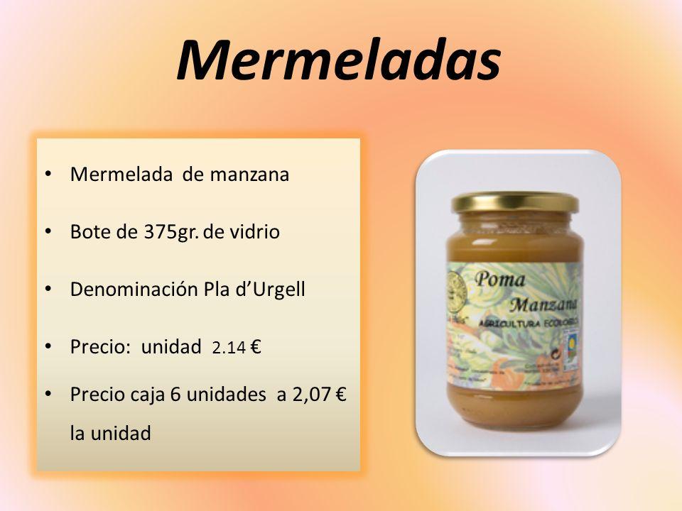 Mermeladas Mermelada de manzana Bote de 375gr. de vidrio