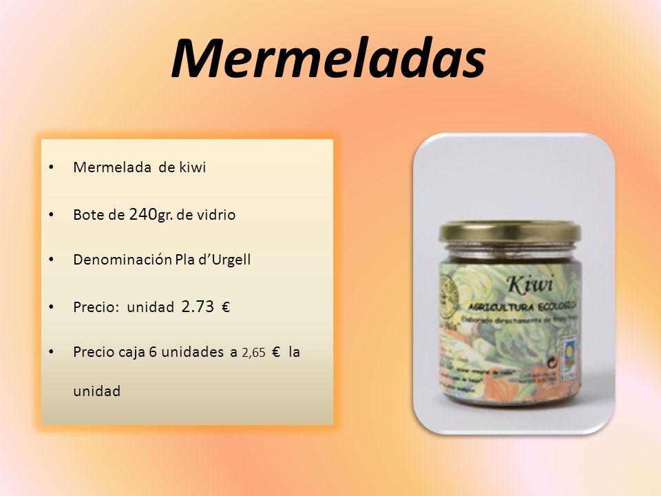 Mermeladas Mermelada de kiwi Bote de 240gr. de vidrio