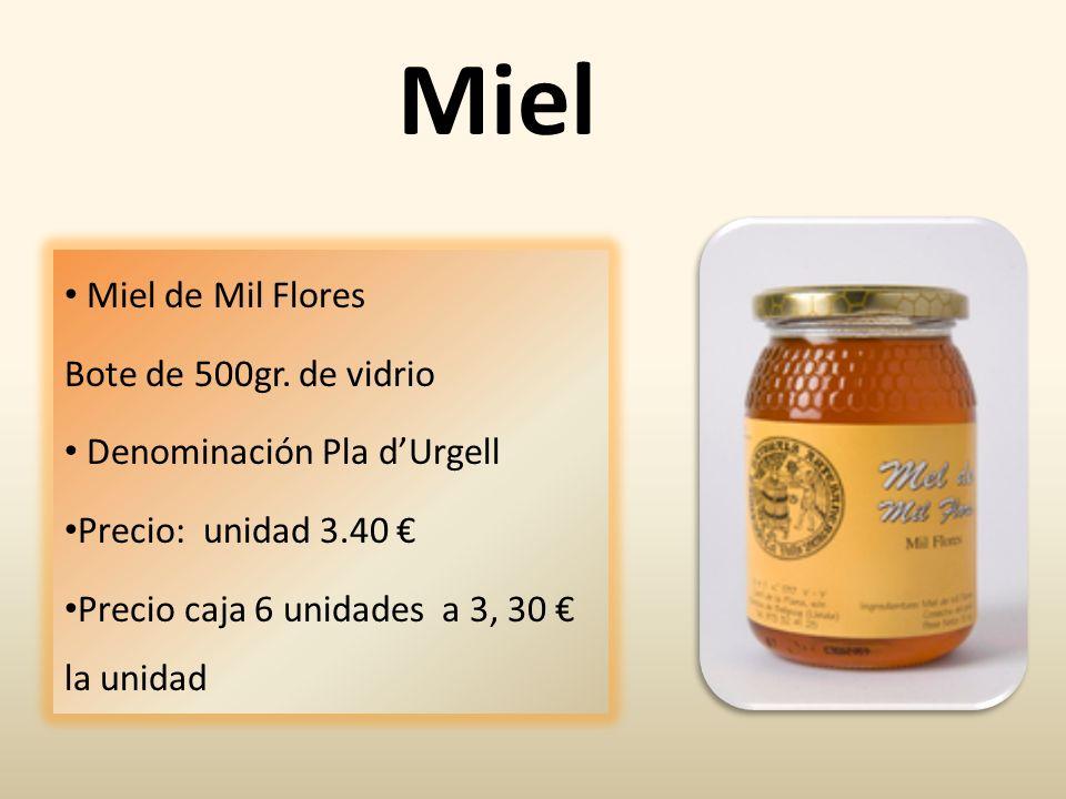 Miel Miel de Mil Flores Bote de 500gr. de vidrio