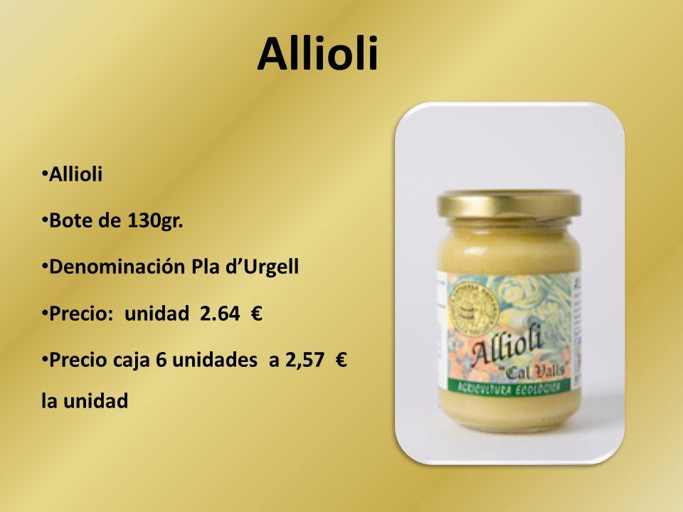 Allioli Allioli Bote de 130gr. Denominación Pla d'Urgell