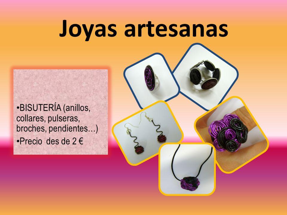 Joyas artesanas BISUTERÍA (anillos, collares, pulseras, broches, pendientes…) Precio des de 2 €