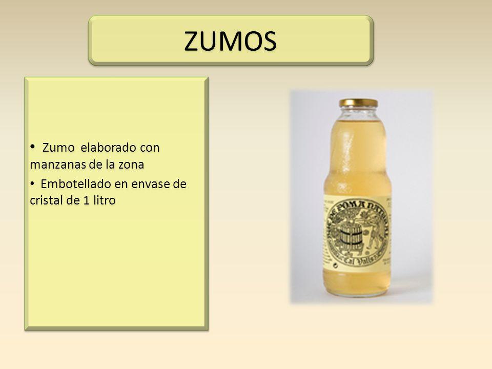 ZUMOS Zumo elaborado con manzanas de la zona