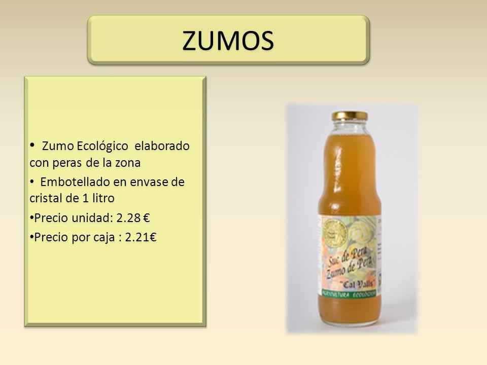 ZUMOS Zumo Ecológico elaborado con peras de la zona