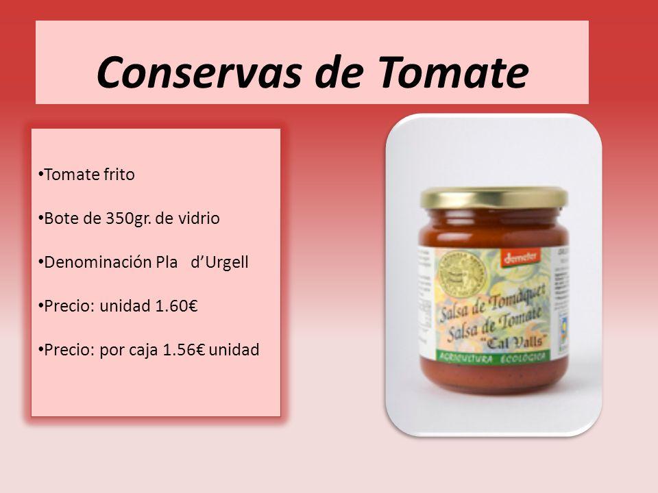 Conservas de Tomate Tomate frito Bote de 350gr. de vidrio