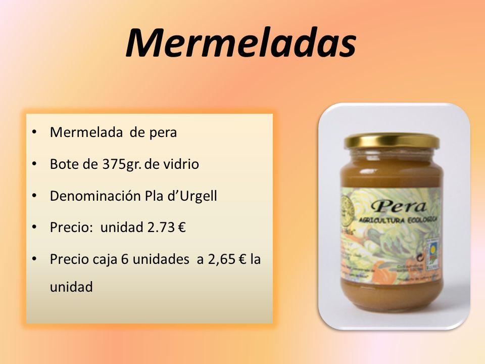 Mermeladas Mermelada de pera Bote de 375gr. de vidrio