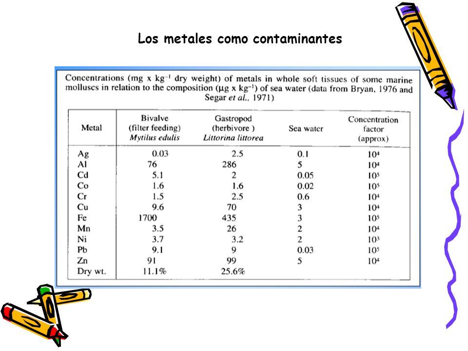 Los metales como contaminantes