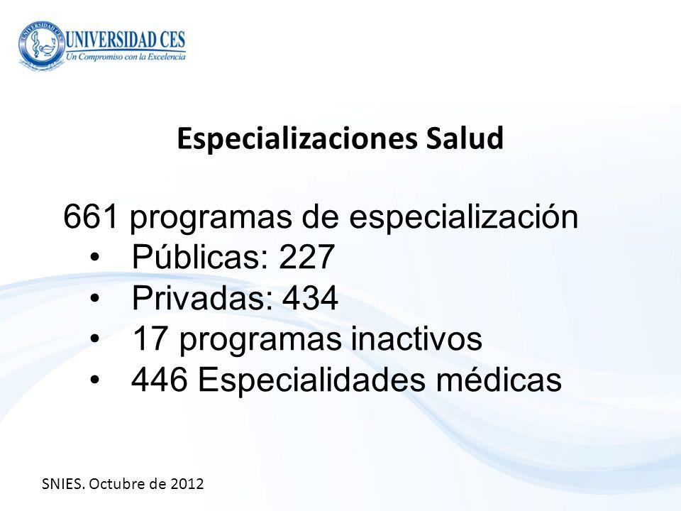 Especializaciones Salud