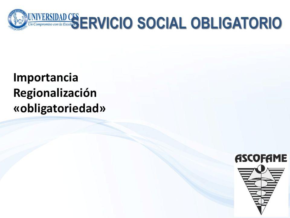 SERVICIO SOCIAL OBLIGATORIO