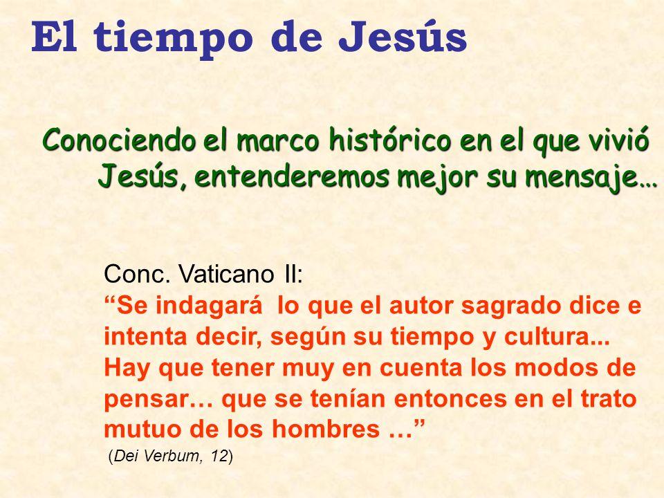 El tiempo de Jesús Conociendo el marco histórico en el que vivió