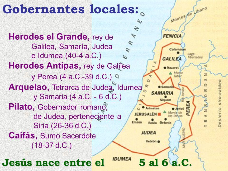 Gobernantes locales: Jesús nace entre el 5 al 6 a.C.