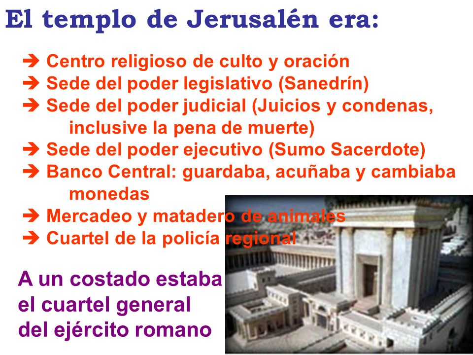 El templo de Jerusalén era: