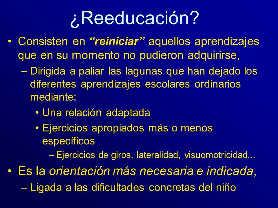 ¿Reeducación Es la orientación más necesaria e indicada,