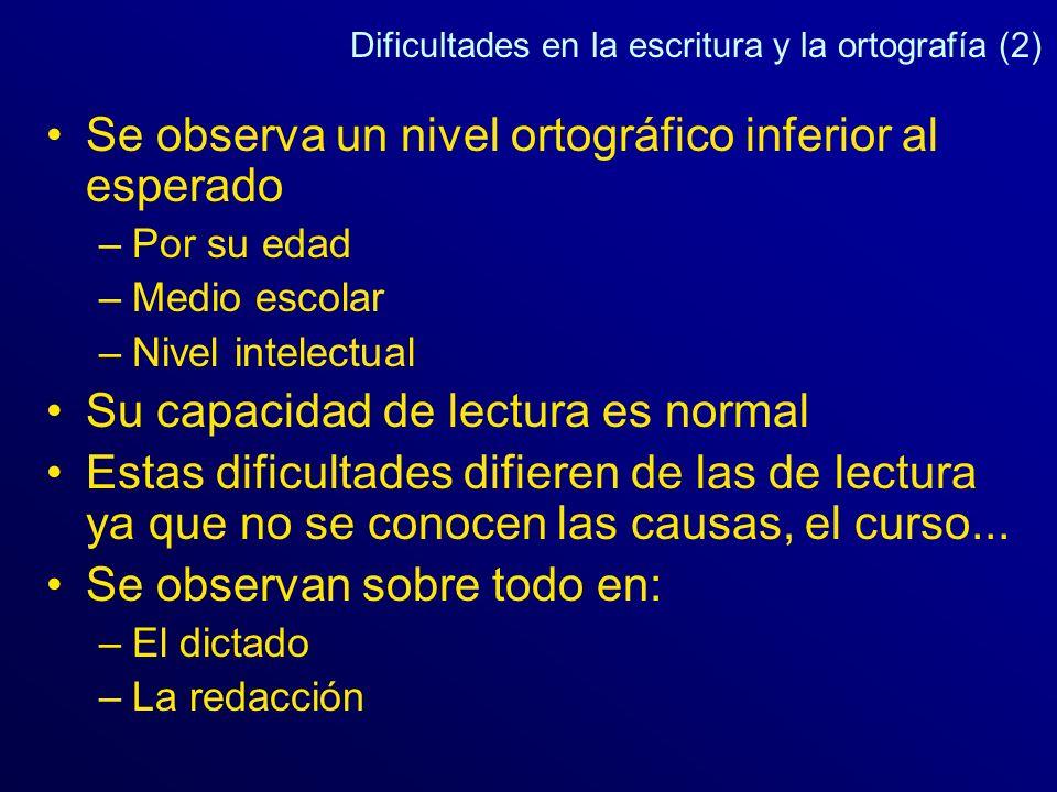 Dificultades en la escritura y la ortografía (2)