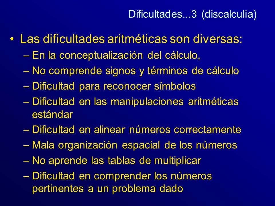 Dificultades...3 (discalculia)