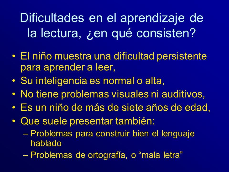 Dificultades en el aprendizaje de la lectura, ¿en qué consisten