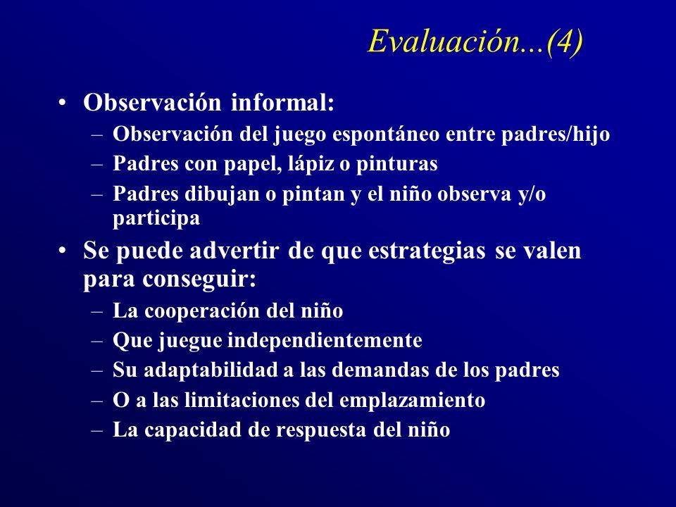 Evaluación...(4) Observación informal: