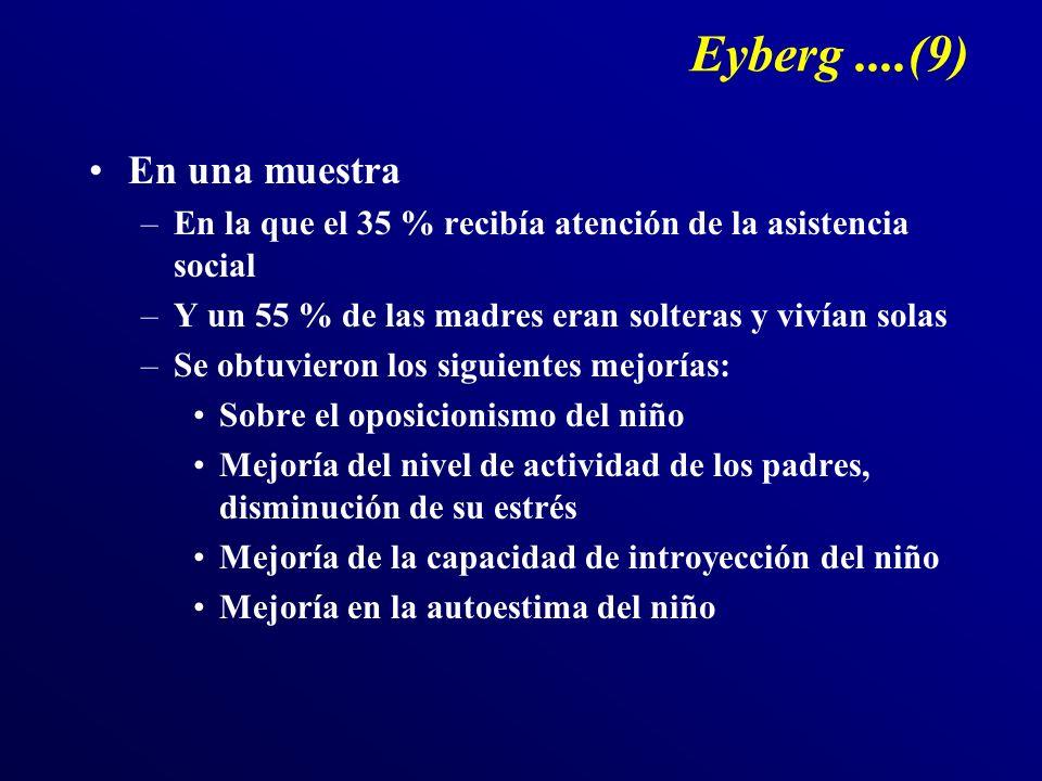Eyberg ....(9) En una muestra