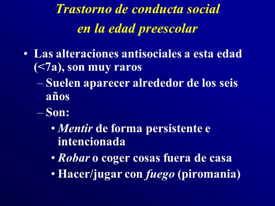 Trastorno de conducta social en la edad preescolar