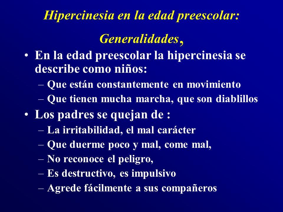 Hipercinesia en la edad preescolar: Generalidades,