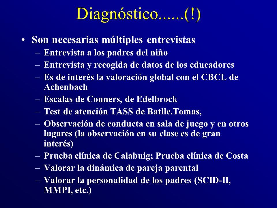 Diagnóstico......(!) Son necesarias múltiples entrevistas