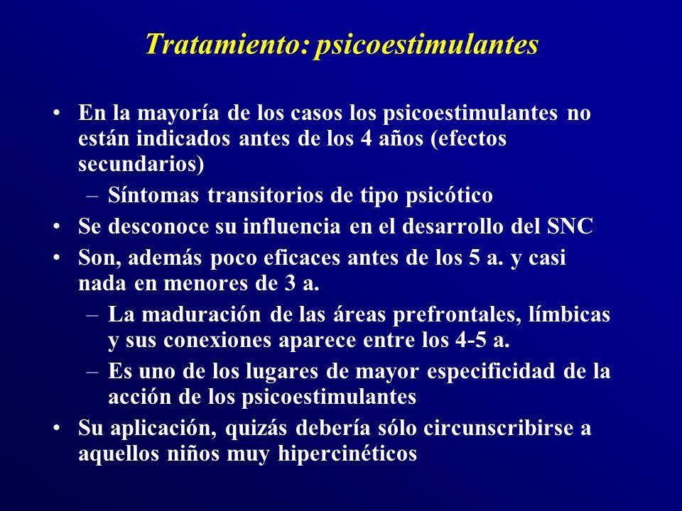 Tratamiento: psicoestimulantes