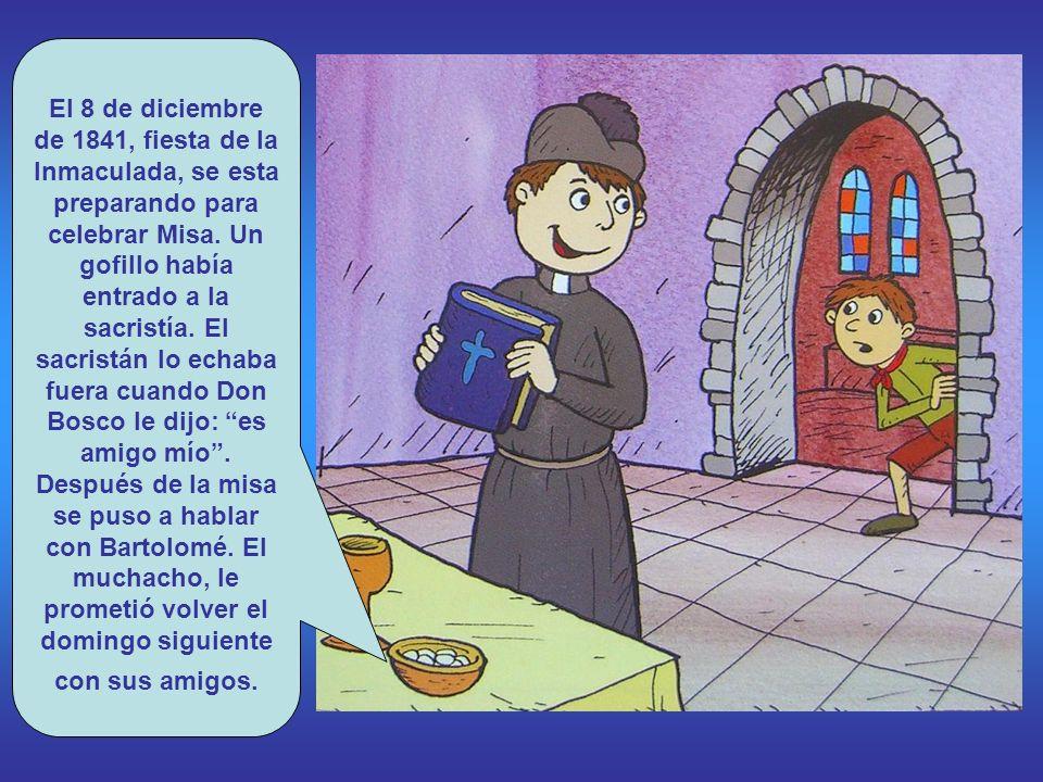 El 8 de diciembre de 1841, fiesta de la Inmaculada, se esta preparando para celebrar Misa.