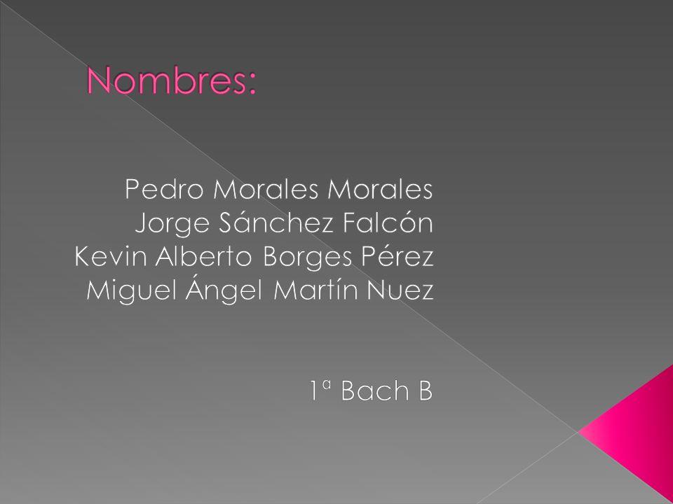 Nombres: Pedro Morales Morales Jorge Sánchez Falcón