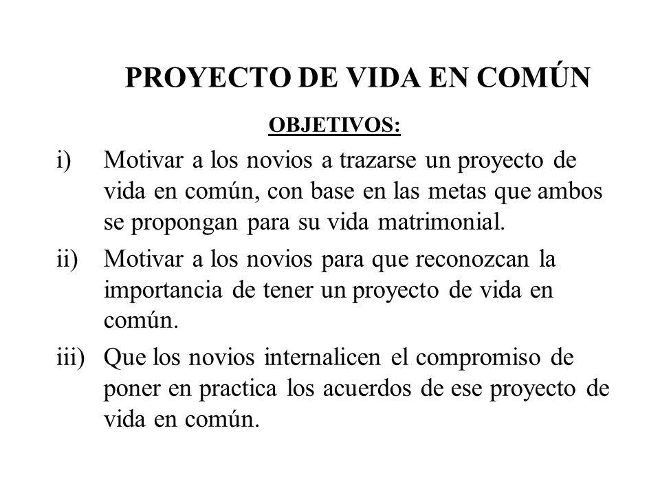 PROYECTO DE VIDA EN COMÚN