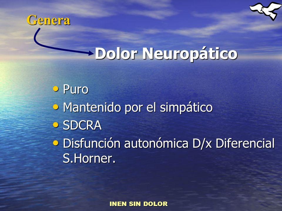Dolor Neuropático Genera Puro Mantenido por el simpático SDCRA