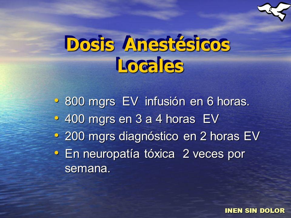 Dosis Anestésicos Locales