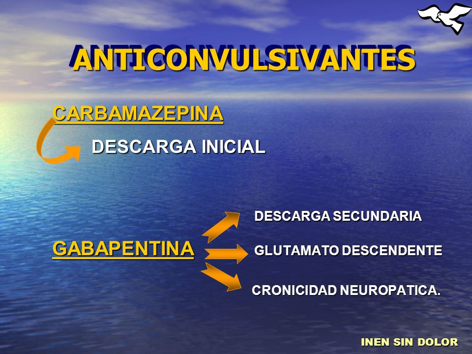 ANTICONVULSIVANTES DESCARGA INICIAL DESCARGA SECUNDARIA CARBAMAZEPINA