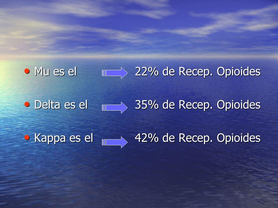 Mu es el 22% de Recep. Opioides