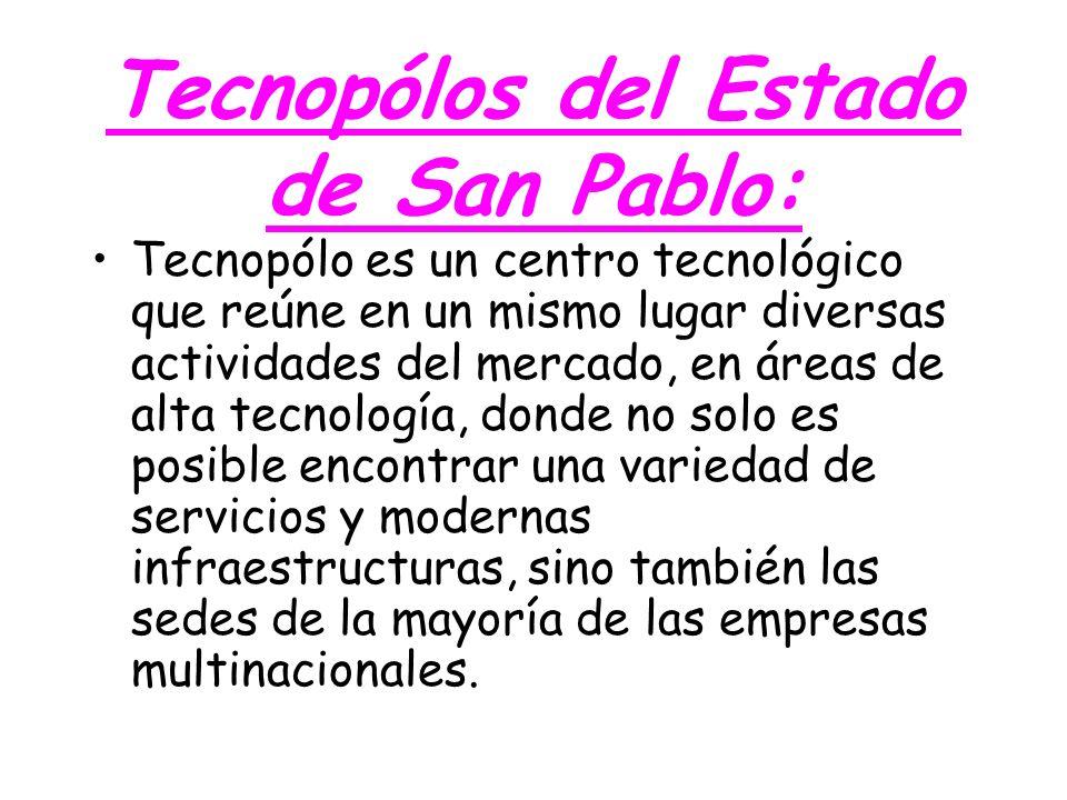 Tecnopólos del Estado de San Pablo: