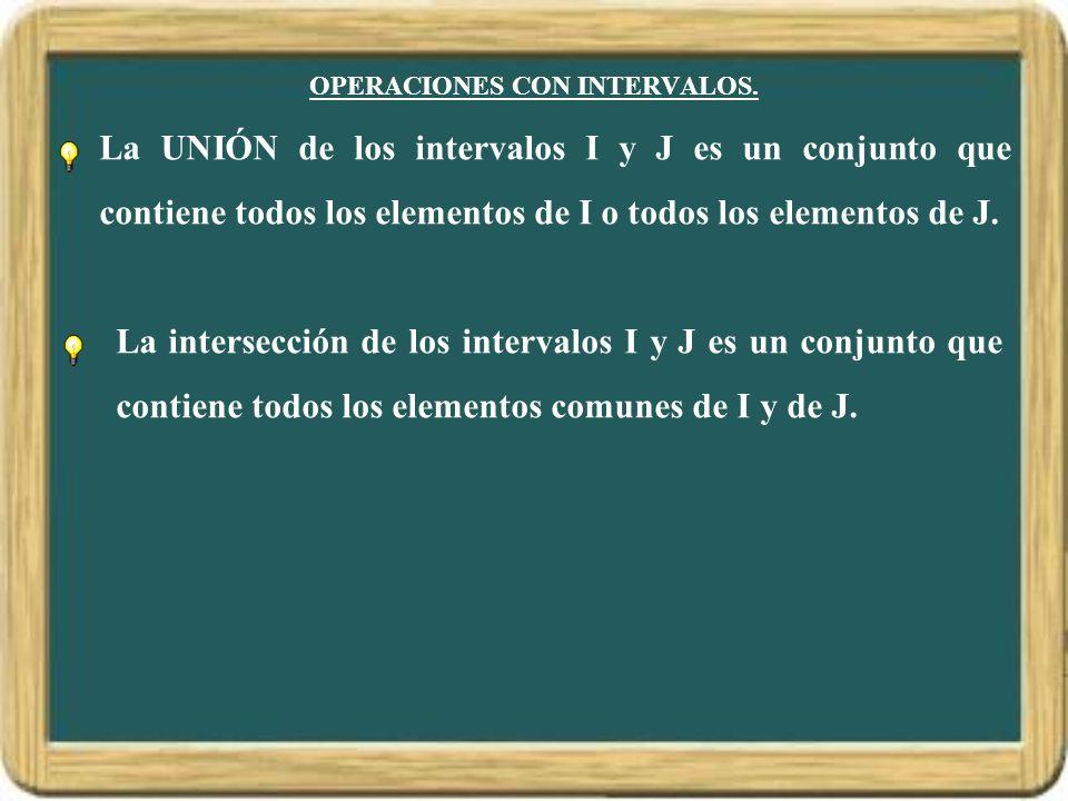 OPERACIONES CON INTERVALOS.