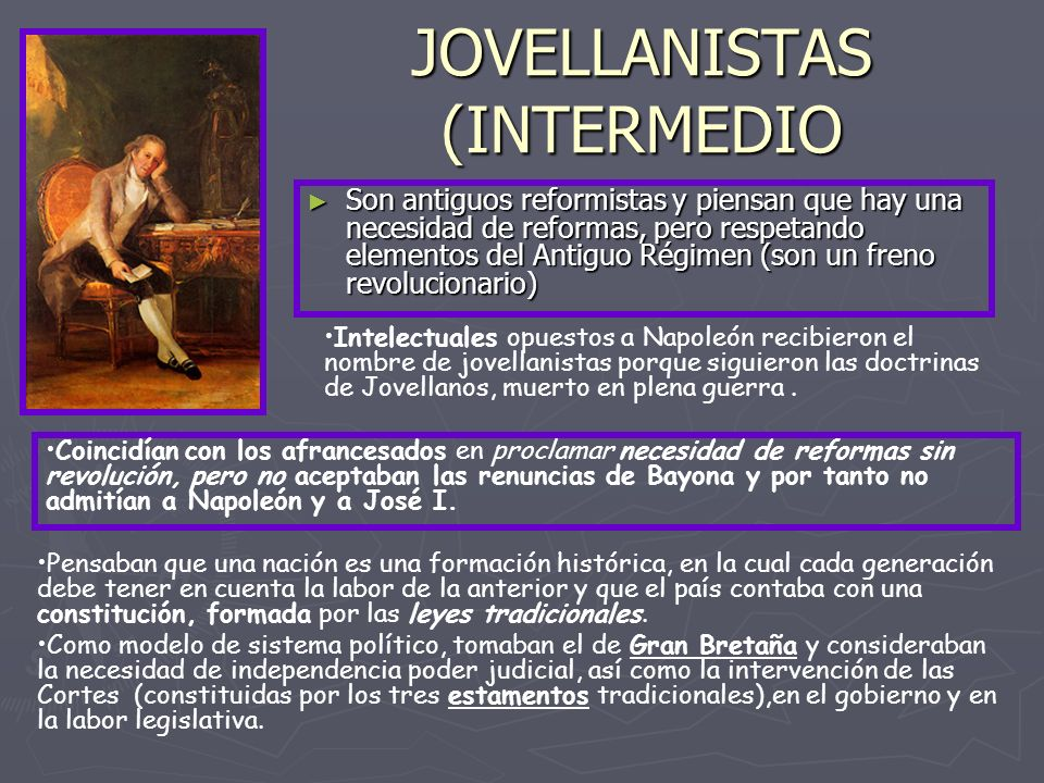 JOVELLANISTAS (INTERMEDIO