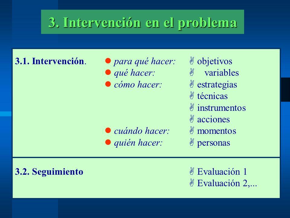 3. Intervención en el problema