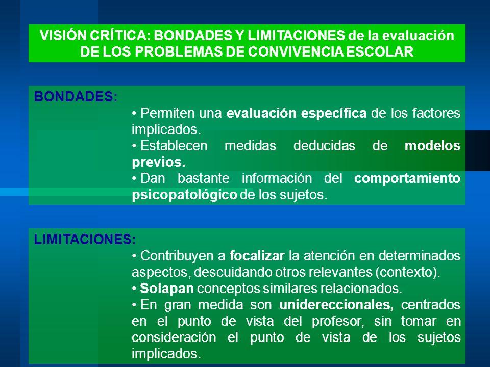 VISIÓN CRÍTICA: BONDADES Y LIMITACIONES de la evaluación
