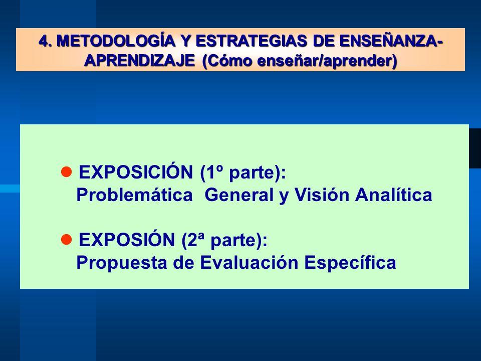 Problemática General y Visión Analítica  EXPOSIÓN (2ª parte):