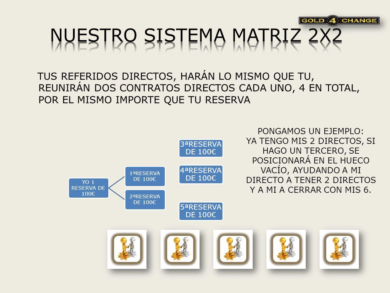 NUESTRO SISTEMA MATRIZ 2X2