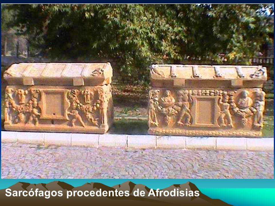 Sarcófagos procedentes de Afrodisias