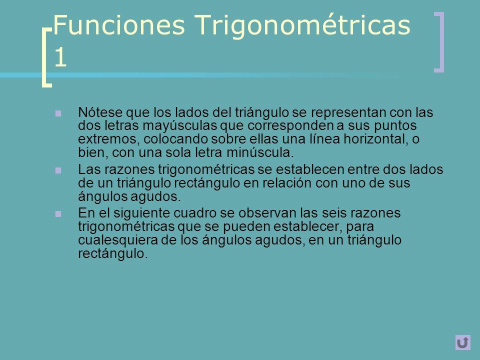 Funciones Trigonométricas 1